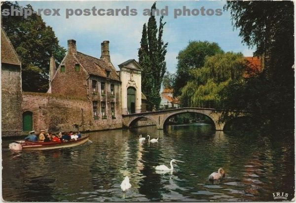 Bruges (Belgium) the Beguinage, postcard